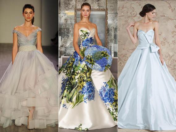 plave vjenčanice