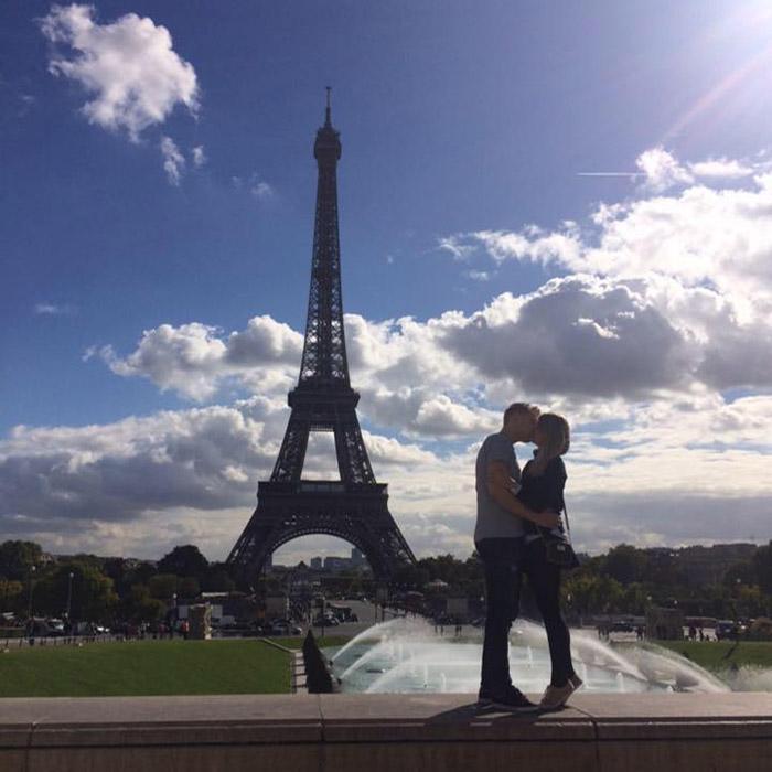 Barbara Starić i Matija Ricko u Parizu