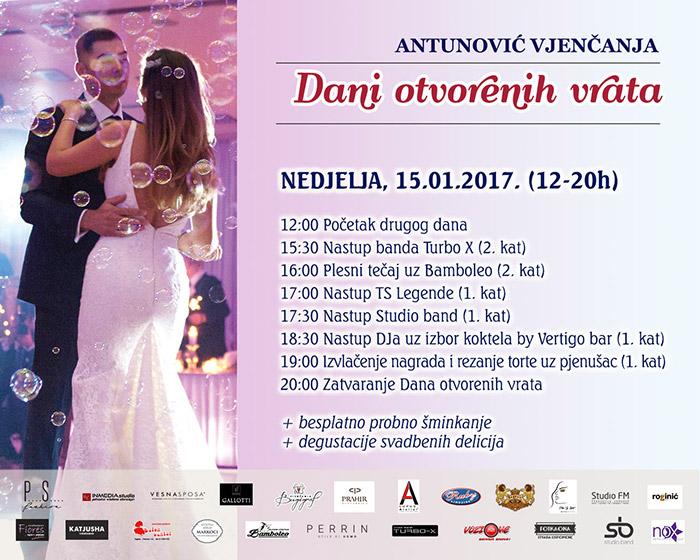 Hotel Antunović program Dana otvorenih vrata nedjelja