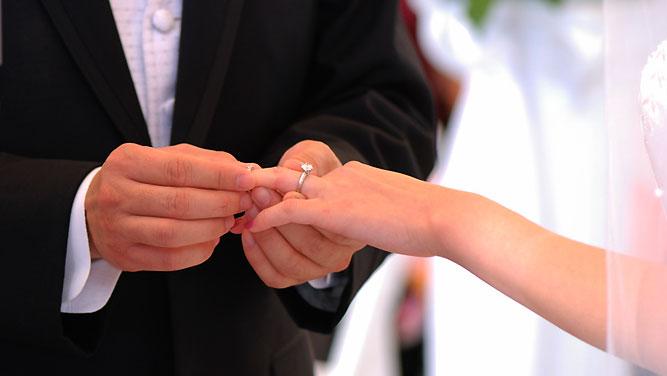 Vjenčani prsten mladenaca