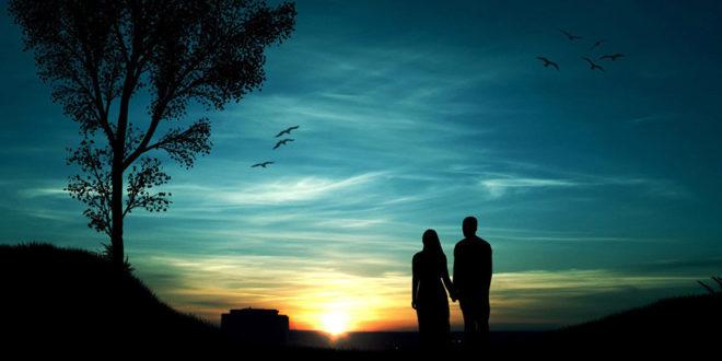 Zaljubljeni par u sumrak