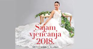 Sajam vjenčanja u Zagrebu od 9. do 11. veljače 2018. u Areni Zagreb
