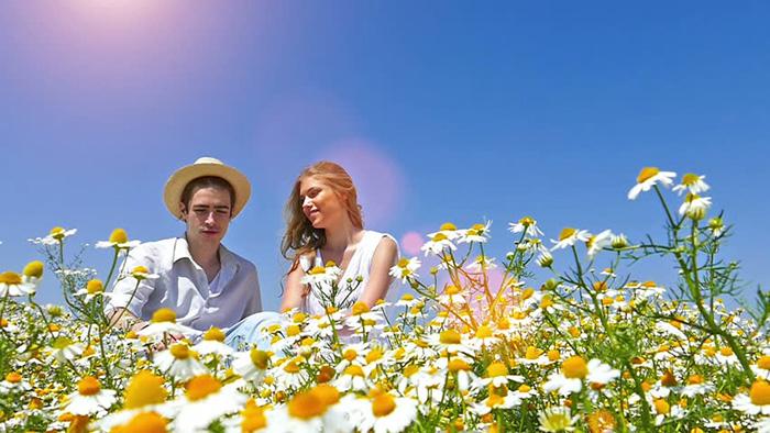 Par uživa u proljeću
