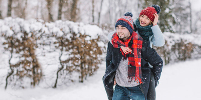 Zaljubljeni par u zimi