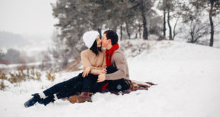 Vjenčanje par zima